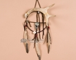 "White Tail Antler Navajo Medicine Wheel 6""  (mw6-8)"