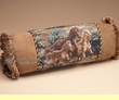 "Wild Horses Western Tapestry Neck Roll Pillow 21""  (wp16)"