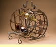 "Winery Barrel Wrought Iron Wine Rack 19"" -Sonoma  (wr9)"