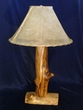 "Wooden Aspen Log Lamp 25""  (AL2)"