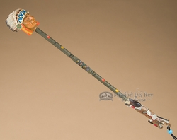 Wooden Indian Head & Painted Pony Back Scratcher  (b4)