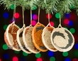Woven Basket Christmas Ornament Set  (o45)