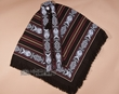 Woven Otavalo Indian Poncho -Chocolate Brown  (p17)