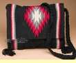 Woven Southwestern Blanket Purse 15x12 -Black  (sp463)