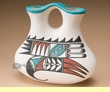 Ysleta Del Sur Pueblo  -Tigua Indian Wedding Vase (e)