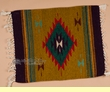 "Zapotec Indian Wool Place Mat  16""x19"" (r)"