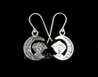 Zuni Native American Silver Earrings -Fetish Bear  (ij200)