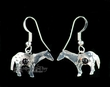 Zuni Native American Silver Indian Earrings -Horses  (ij202)