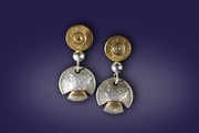 Bullets and Dimes Earrings