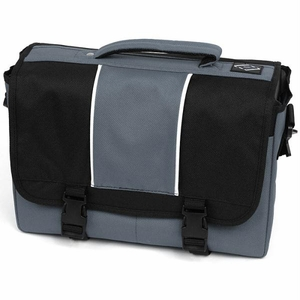 AJ Kitt Laptop, iPad, Netbook & Tablet Messenger Bag - Grey