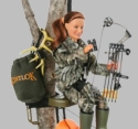 "Hunter Ann Bow Hunter 8"" Action Figure Toy"