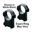 "Sako Ring Mounts - 1"" Low Black"