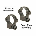 "Ruger M77 Ring Mounts - 1"" High Silver"