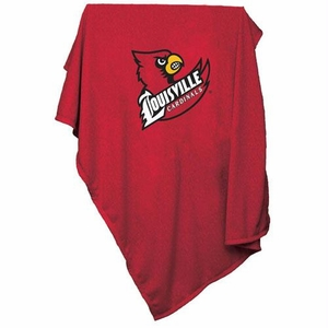 Louisville Cardinals NCAA Sweatshirt Throw Blanket