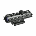 Tactical 3-Rail Sighting System - 2-7x32/Blue Illuminated Rangefinder/Green/Weaver Mount