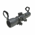 Rubber Tactical-Double Illumination Series Scope - 4x30E Red/Gree Illuminated Ruby Lens Rings