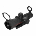 Rubber Armored Mark III Tactical Scope - 3-9x42 Compact with Red Laser Blue Illuminated Mil-Dot Reticle