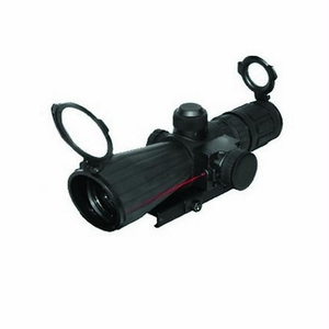 Mark III Rubber Tactical Series Scope - 4x32 Rubber Compact Red Laser Mil-Dot Reticle