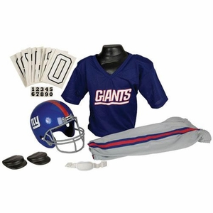 New York Giants Youth NFL Deluxe Helmet and Uniform Set (Small)