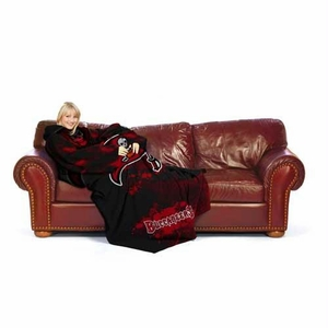 Tampa Bay Buccaneers NFL Adult Smoke Huddler Throw Blanket with Sleeves