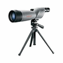 World Class Spotting Scope - 20-60x80mm Gray/Black Porro Prism Straight Eyepiece