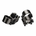 "1"" See-Thru Top Mount Rings - Black"
