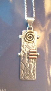 Dawn of the Winter Solstice 3 Metal (Sterling Silver, Brass & Copper) Necklace