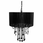 1 Light Black Onyx Shaded Chandelier