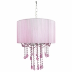 1 Light Pink Sapphire Shaded Chandelier