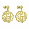 14K Gold Monogram Earrings - Script