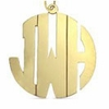 14K Gold Monogram Necklace - Block