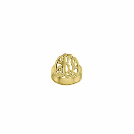 14K Gold Monogram Ring - Script
