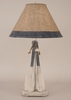 2-Paddle with Rope Table Lamp in Cottage and Navy Accent