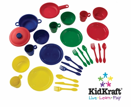 27-Piece Cookware Play Set in Primary