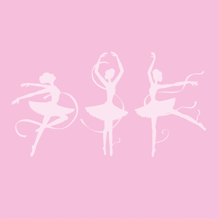 3 Ballerinas Paint by Number Wall Mural