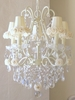 5 Light Chandelier with Cream Rose Shades
