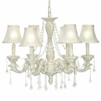 6-Light Blanche Boudoir Chandelier