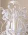 6 Light Leafy Antique White Crystal Chandelier