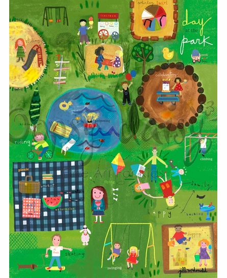 A Day At The Park Canvas Wall Art