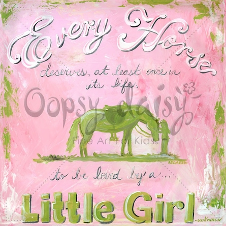 A Girl and Her Horse Canvas Wall Art
