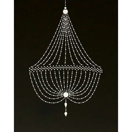 A La Phantom Chandelier Art Print