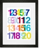 A Numerical Ode to Helvetica Framed Art Print