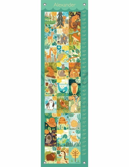 A through Z Animals Growth Chart
