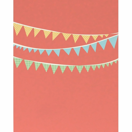 A Vintage Party Bunting Banner Art Print