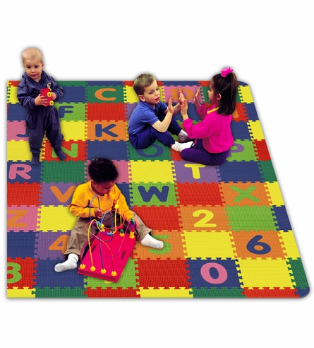 A-Z & 0-9 Interlocking Floor Mat - Large