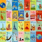 A-Z World Canvas Wall Art