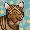 Aaron the Tiger Canvas Wall Art