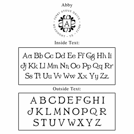 Abby Personalized Self-Inking Stamp