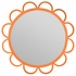 Abby Scalloped Mirror