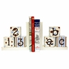 ABC 123 Bookends in Blue & Chocolate
